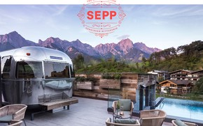 Picture the sky, mountains, home, pool, Hotel Sepp