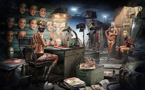 Picture work, art, workshop, mask, Sergey Kondratovich, Post Apocalyptic pin up 14