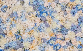 Picture flowers, Wallpaper, texture