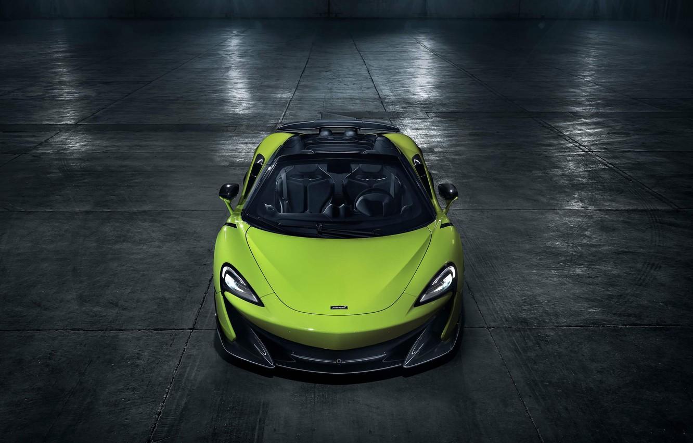 Photo wallpaper machine, light, style, lights, hangar, Roadster, sports car, McLaren 600LT Spider