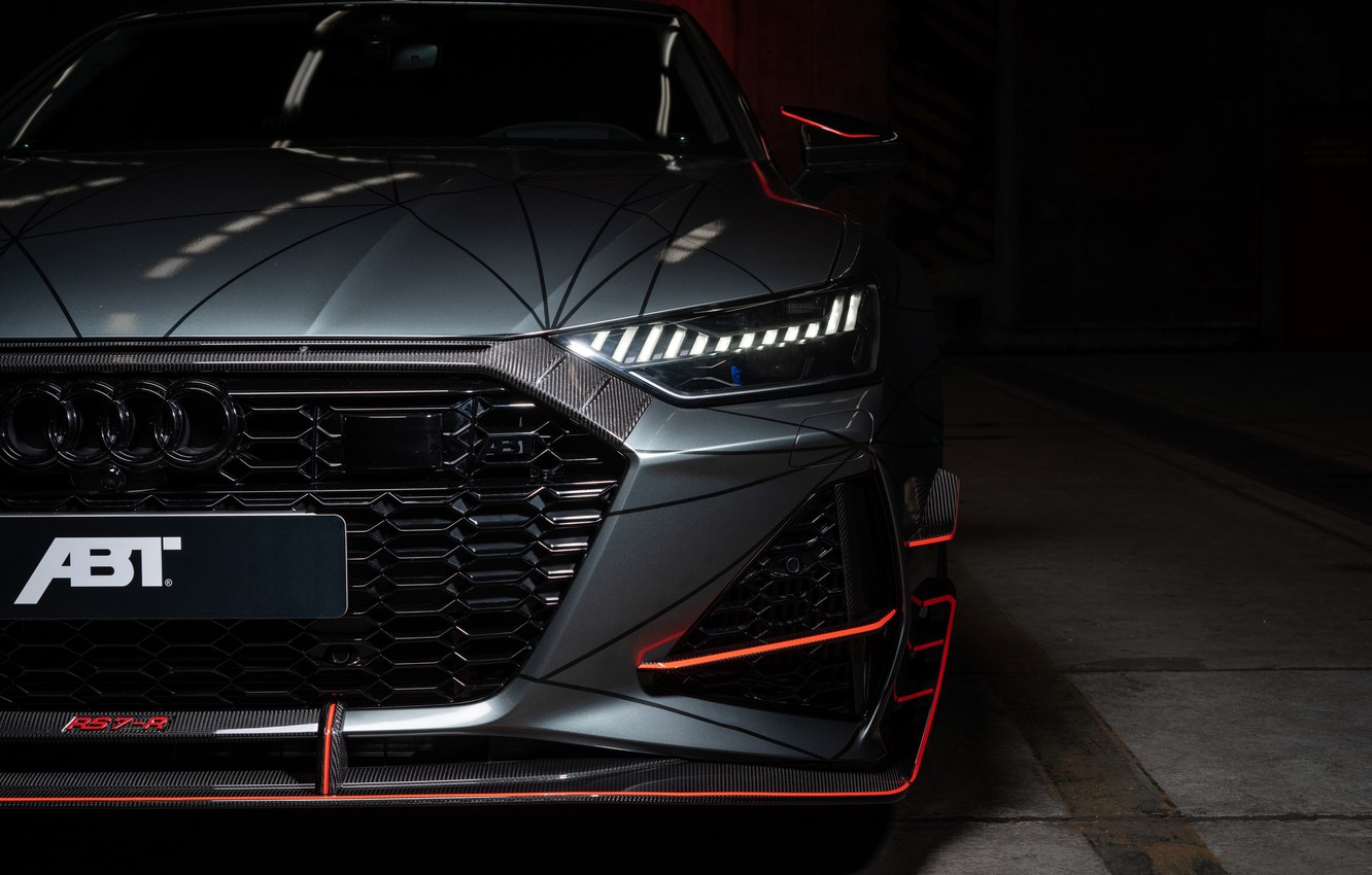 Photo wallpaper Audi, headlight, ABBOT, Sportback, RS7, 2020, RS7-R
