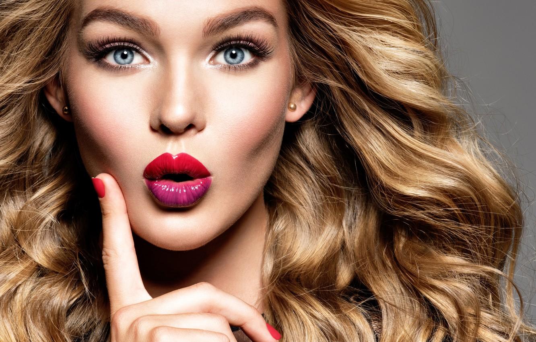 Wallpaper look, face, portrait, makeup, lipstick, blonde