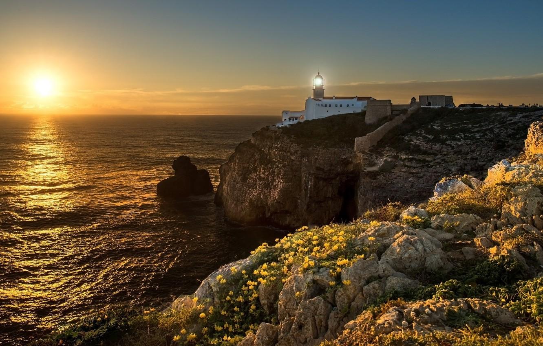 Photo wallpaper landscape, nature, lighthouse, beauty