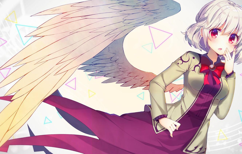 Photo wallpaper girl, angel, wing