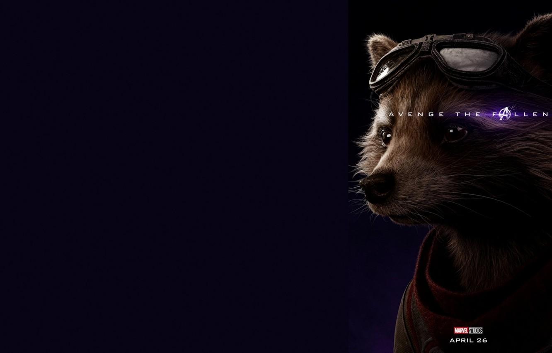 Photo wallpaper Rocket, Raccoon, Avengers: Endgame, Avengers Finale, Terpily Thanos, Rabbit(for the Torah)