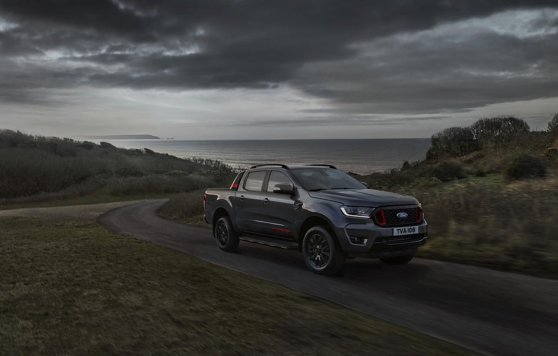 Photo wallpaper overcast, Ford, pickup, Ranger, Thunder, 2020