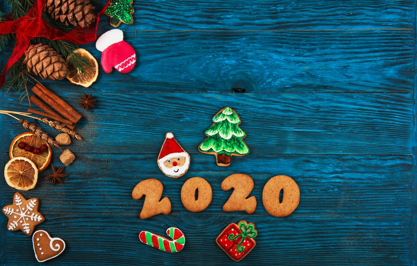 Wallpaper Christmas.Wallpaper Christmas Composition Spices Gingerbread 2020