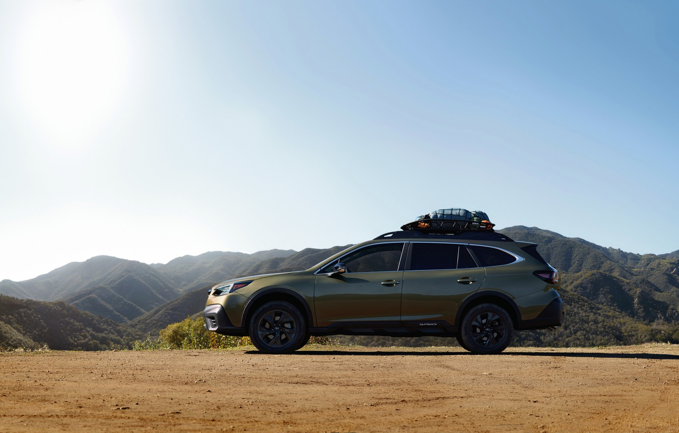 Photo wallpaper Subaru, side view, universal, Outback, AWD, 2020