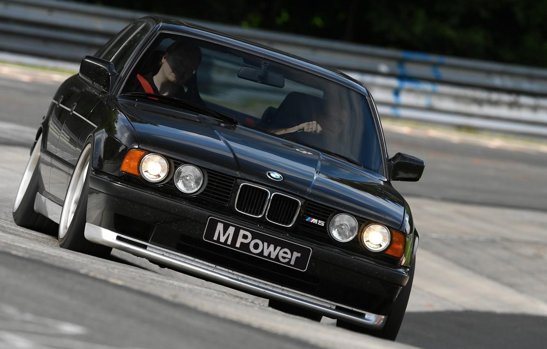 Photo wallpaper BMW, E34, 5-Series, M5