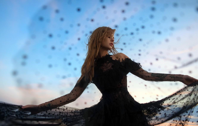 Photo wallpaper girl, background, dance