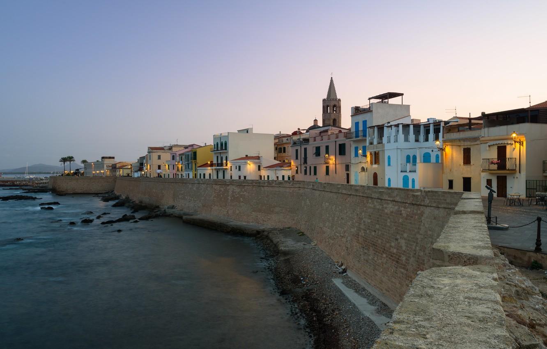 Photo wallpaper the evening, Italy, Sardinia, Alghero