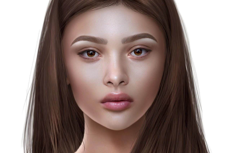 Photo wallpaper eyes, girl, hair, portrait
