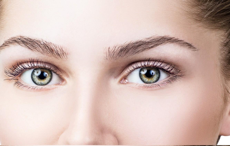 Photo wallpaper girl, eyes, look