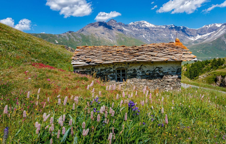 Photo wallpaper mountains, France, Savoie, Mont-Cenis