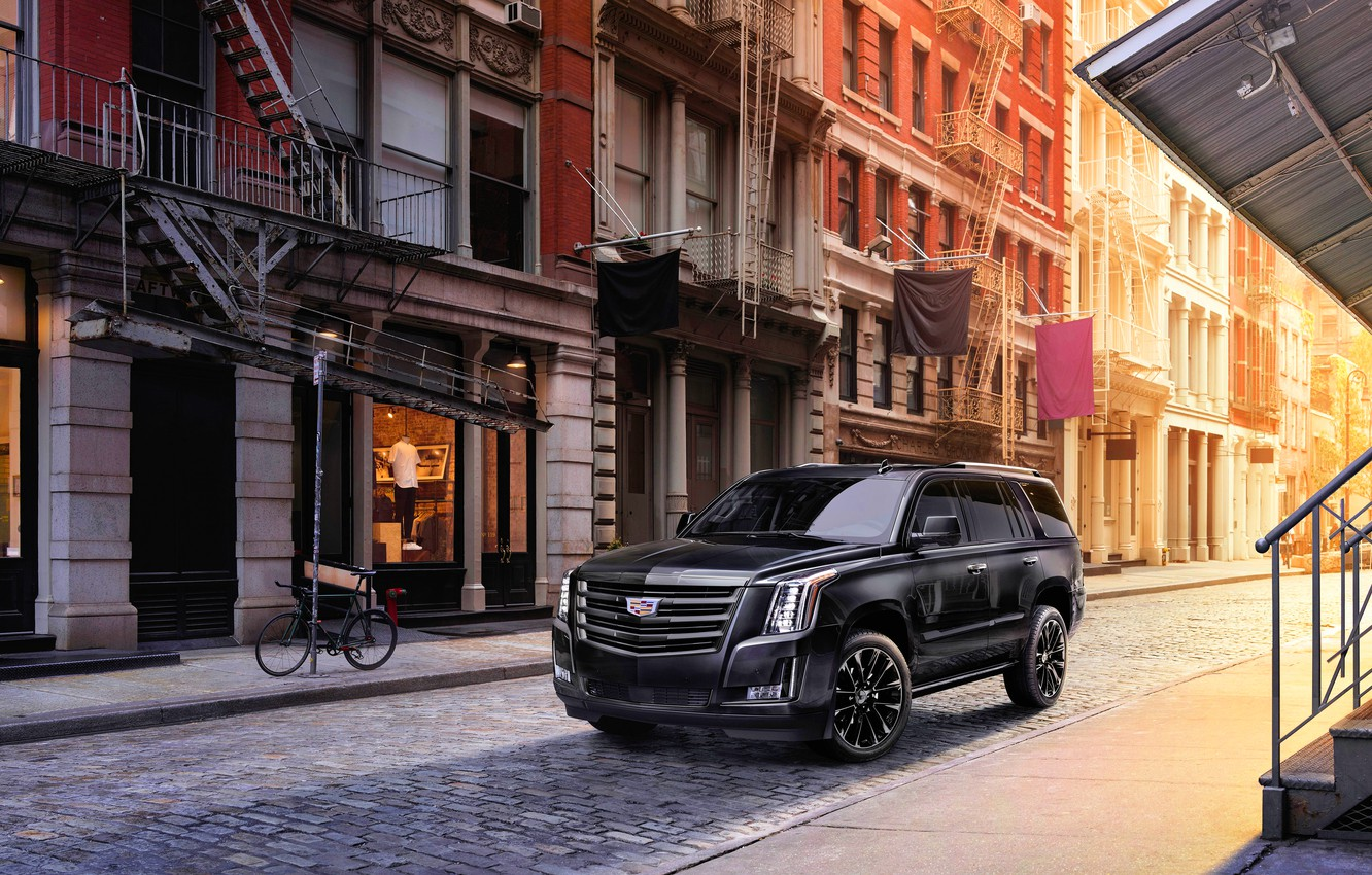 Photo wallpaper Cadillac, Cadillac Escalade, Sport Edition, 2019, Cadillac Escalade Sport Edition 2019