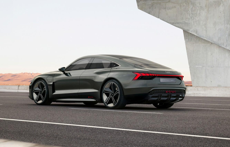 Photo wallpaper Audi, coupe, highway, 2018, e-tron GT Concept, the four-door