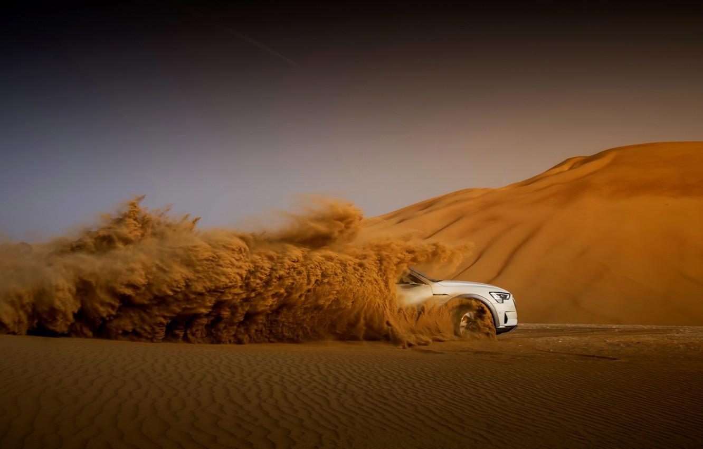 Photo wallpaper sand, white, Audi, desert, E-Tron, 2019