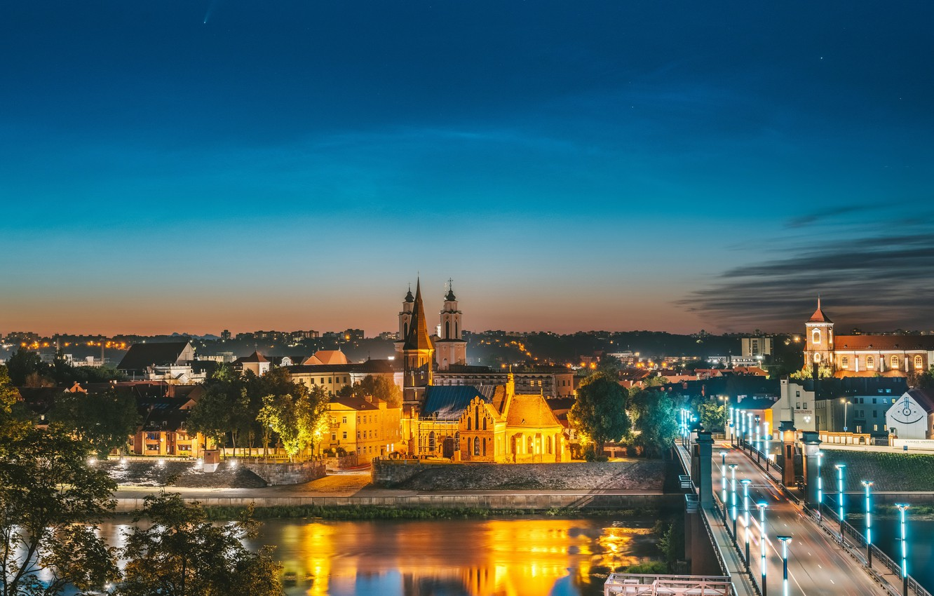Photo wallpaper Lithuania, Kaunas, The old town