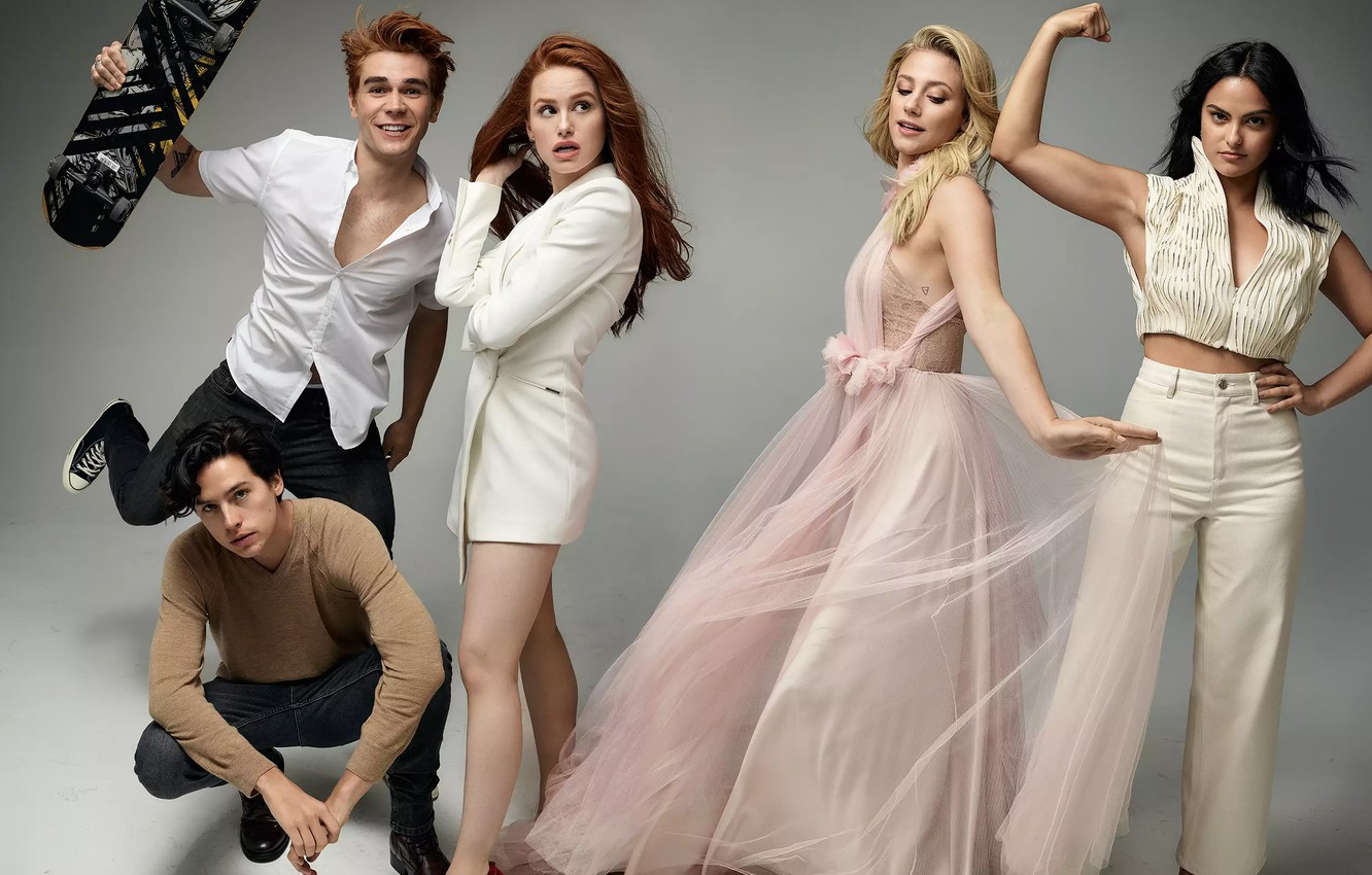 Photo wallpaper Camila Mendes, Cole Sprouse, Lili Reinhart, Madelaine Petsch, K.J. Apa