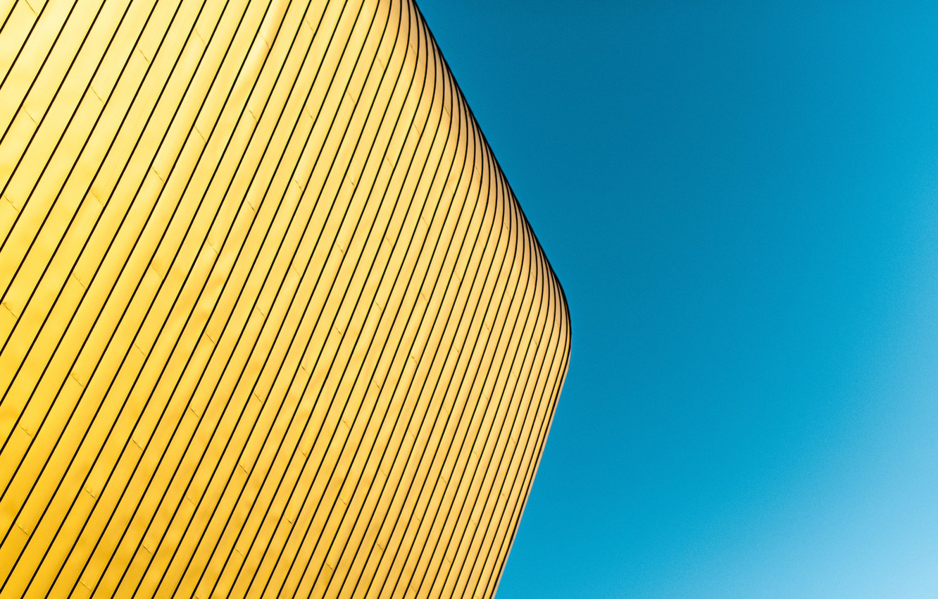 Photo wallpaper the sky, the building, minimalism, angle