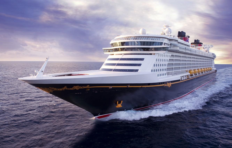 Photo wallpaper The ocean, Sea, Liner, The ship, Disney, Dream, Tank, Passenger ship, Passenger liner, Vessel, Cruise …