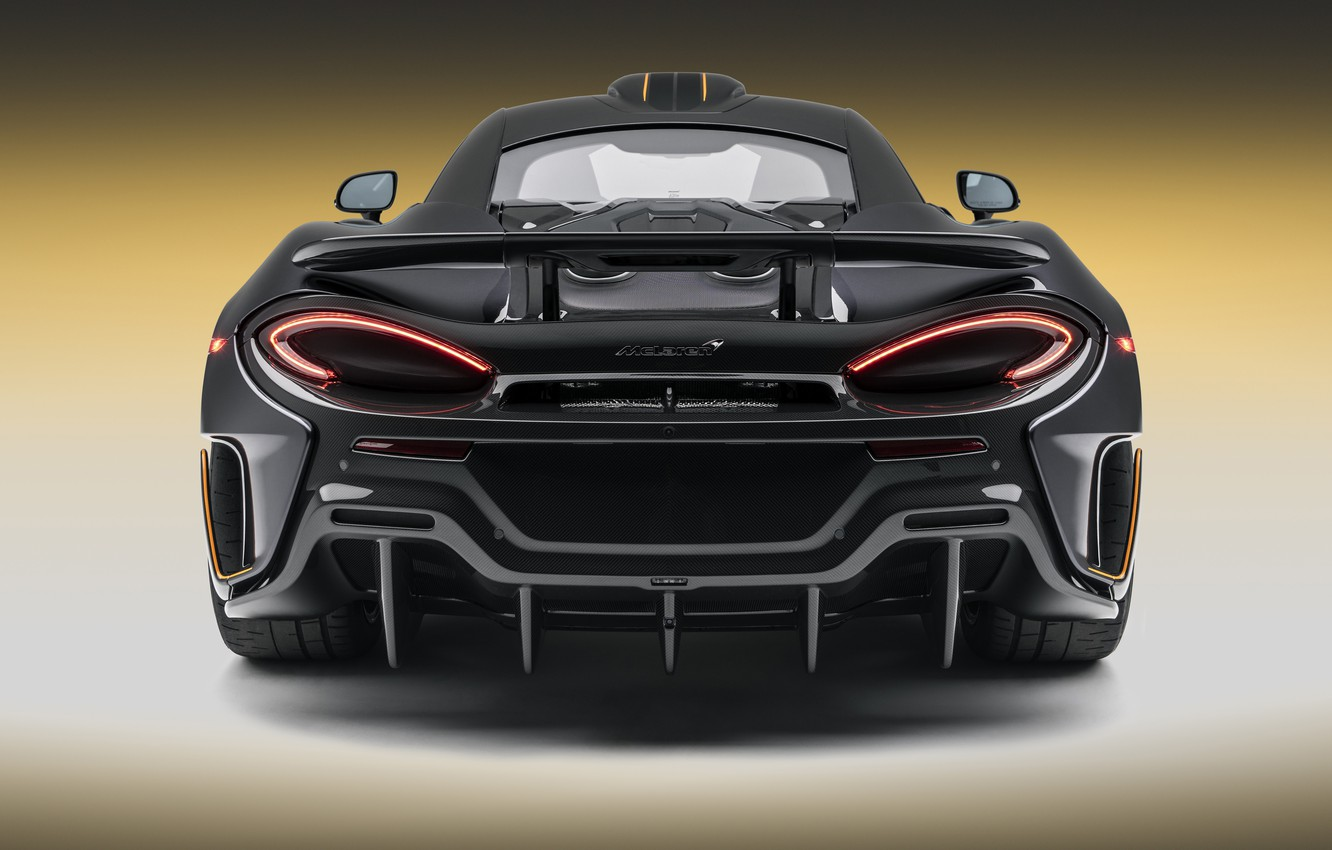 Photo wallpaper McLaren, supercar, rear view, 2018, MSO, 600LT, Stealth Grey