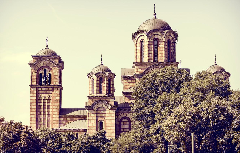 Photo wallpaper Church, architecture, Serbia