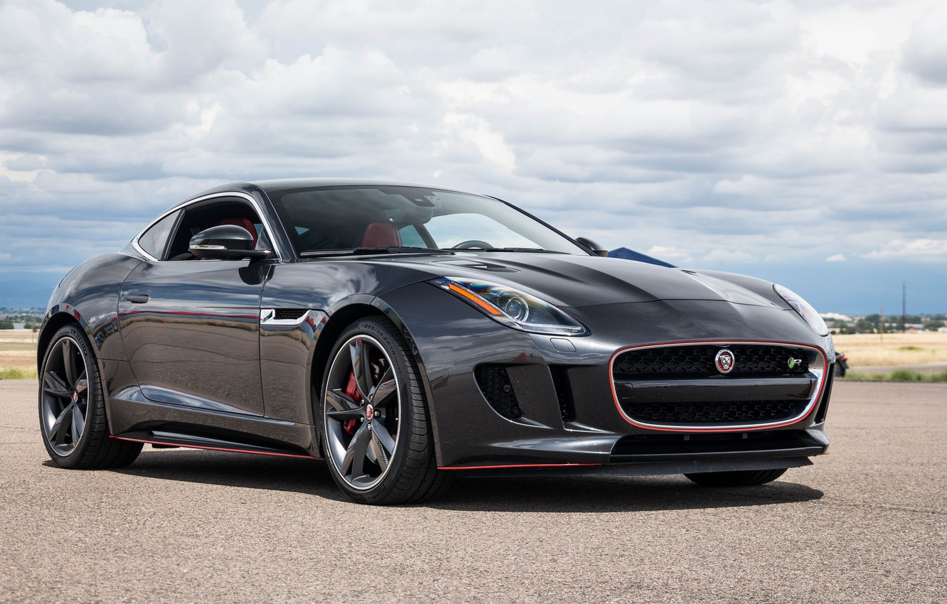 Photo wallpaper black, jaguar, f type