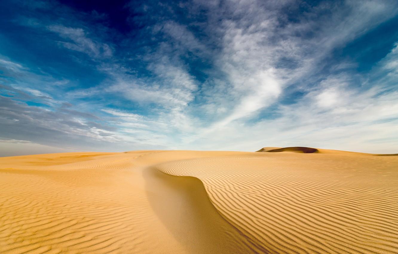 Photo wallpaper sky, desert, clouds, sand