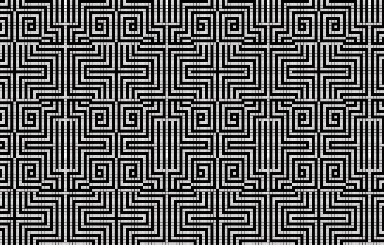 Photo wallpaper pattern, white, black, cell