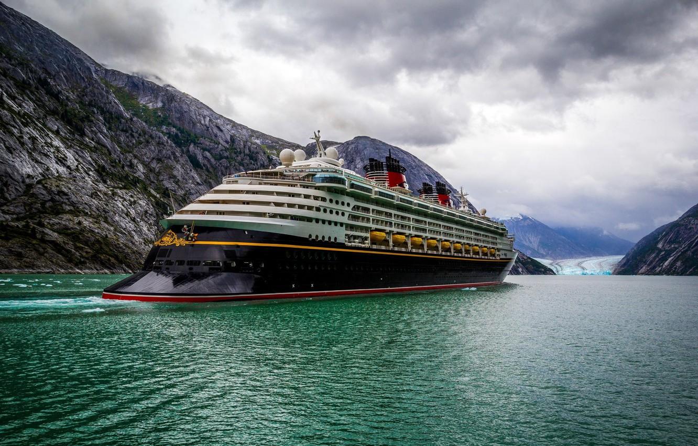 Photo wallpaper sea, ship, liner