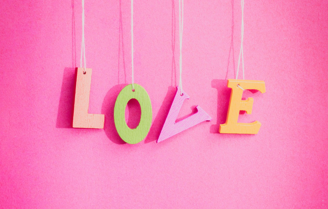 Wallpaper Love Background Pink Love Pink Romantic Letters