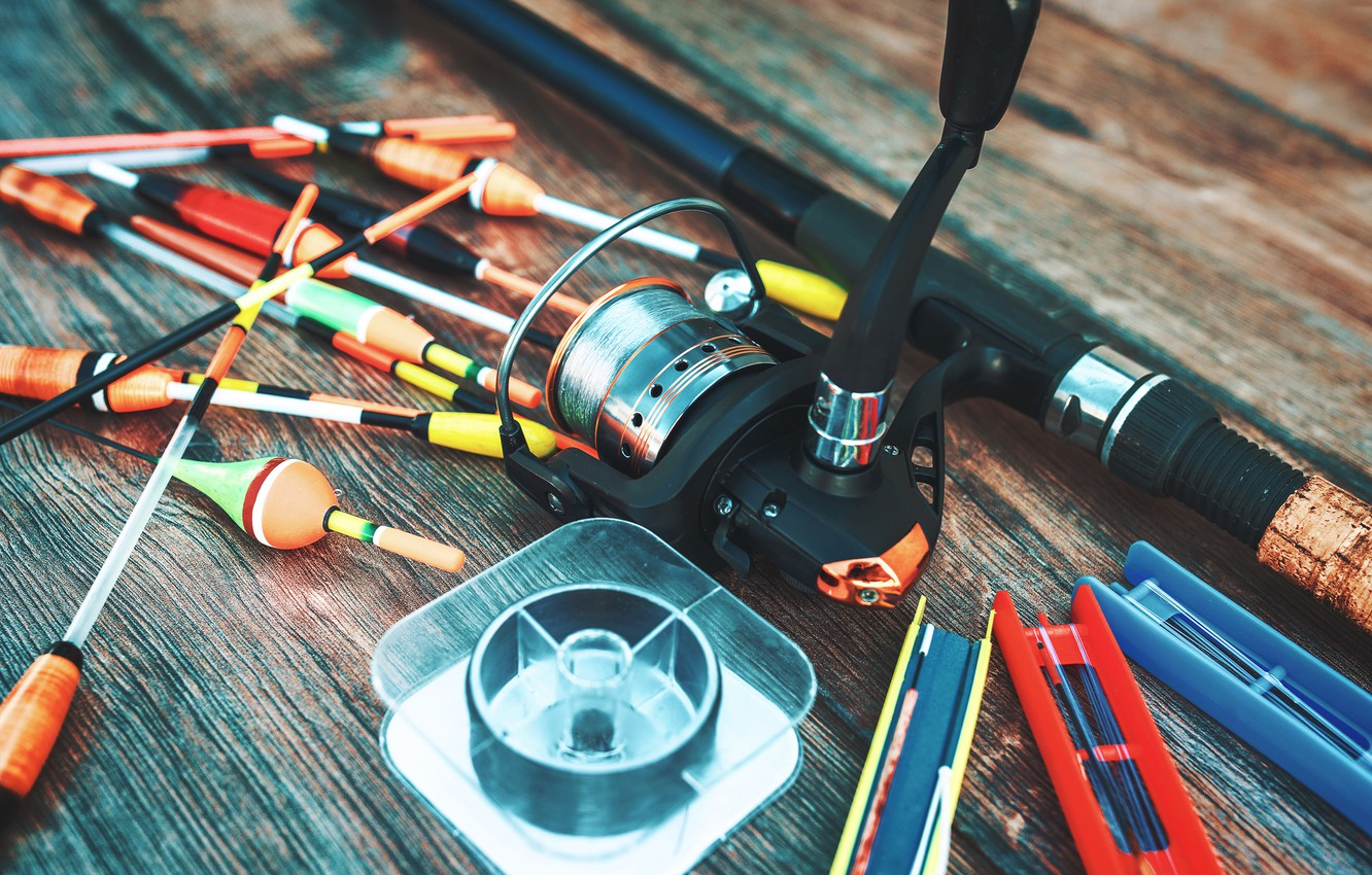 Wallpaper table, fishing, rod, bokeh, floats, tackle, fishing line images  for desktop, section разное - download