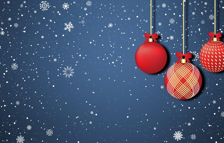 Photo wallpaper Minimalism, Snow, Christmas, Snowflakes, Background, New year, Holiday, Art, Christmas, Art, Mood, Toys, Snow, New …