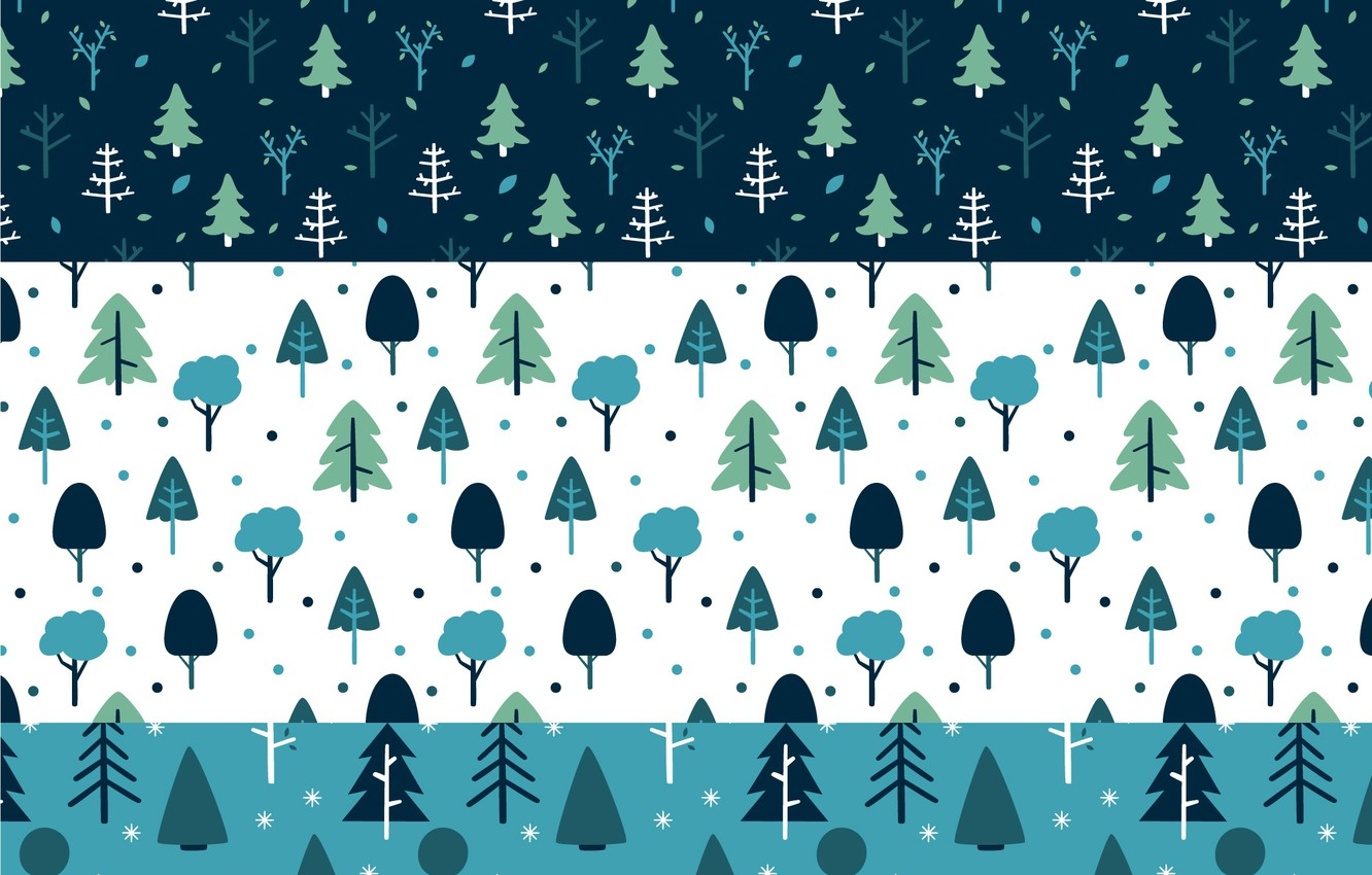 Photo wallpaper winter, trees, tree, Winter, pattern, collection