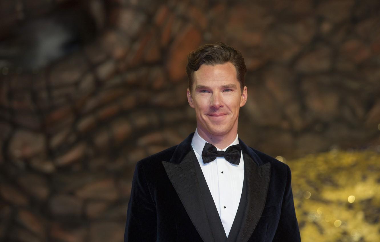 Photo wallpaper smile, butterfly, Benedict Cumberbatch, Benedict Cumberbatch, bow tie, British actor