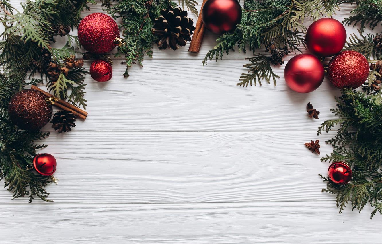 Photo wallpaper decoration, balls, New Year, Christmas, Christmas, balls, wood, New Year, decoration, Merry, fir tree, fir-tree …