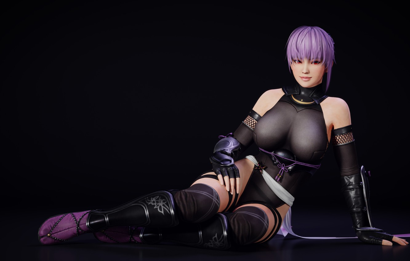Photo wallpaper chest, look, girl, Tits, costume, fighter, Ayane, Dead or Alive
