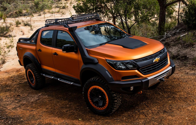 Photo wallpaper Chevrolet, the roads, pickup, 4x4, Colorado, Z71, 2016, Xtreme Concept