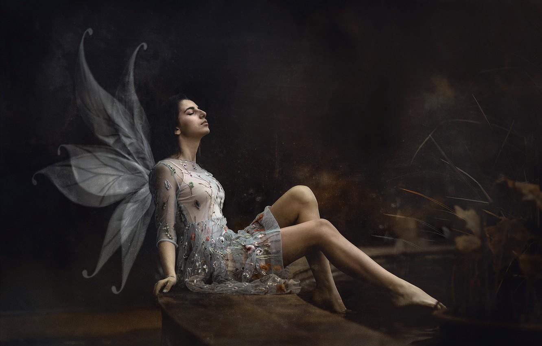Photo wallpaper girl, angel, Maria Nita Vlad