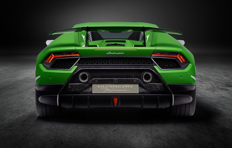 Photo wallpaper Lamborghini, supercar, rear view, Performante, Huracan
