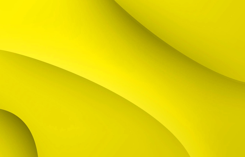 Photo wallpaper yellow, background, curves, form, yellow, fon