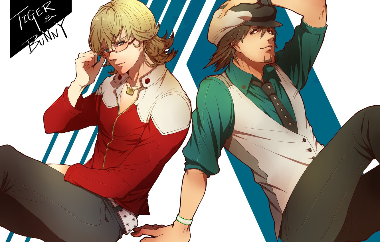 Photo wallpaper art, guys, two, partners, Kotetsu, Tiger and Bunny, Barnaby, Tiger and Bunny