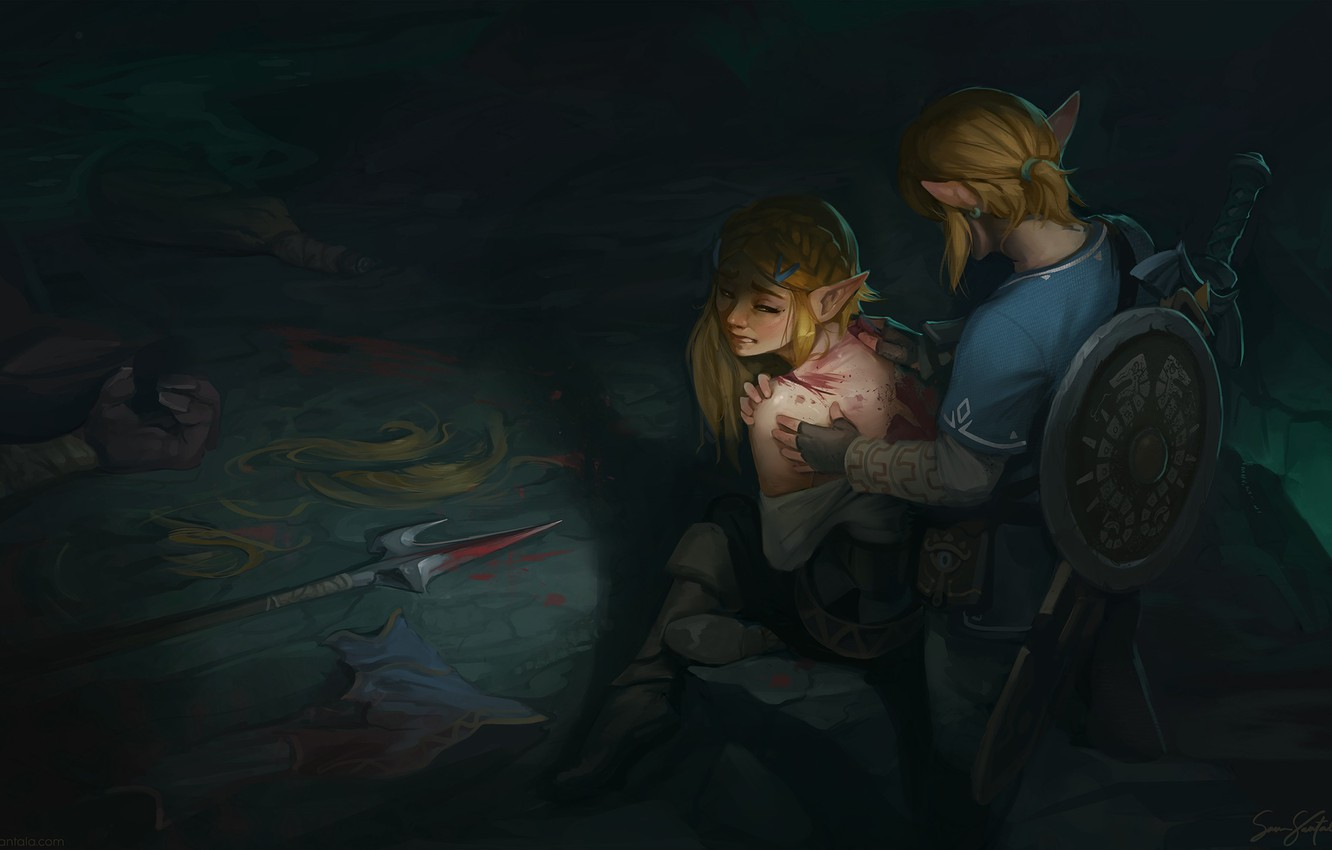 Wallpaper Two Wound Fan Art Link Zelda The Legend Of Zelda