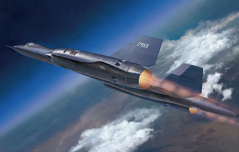 Photo wallpaper art, airplane, aviation, sr-71, blackbird, jet