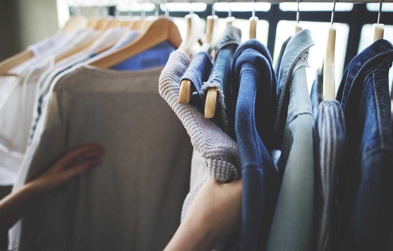 Photo wallpaper clothing, hand, shirt, choice, jacket, hanger