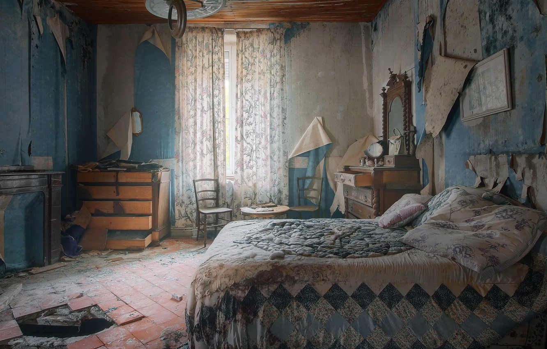 Photo wallpaper room, bed, naturalism