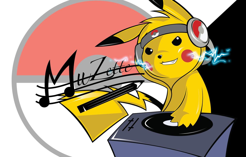 Photo wallpaper DJ, Pokemon, Pokemon, Pikachu