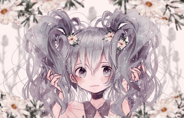 Photo wallpaper vocaloid, hatsune miku, polychromatic, supika