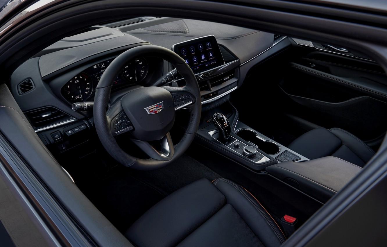 Photo wallpaper Cadillac, interior, sedan, four-door, 2020, CT4-V